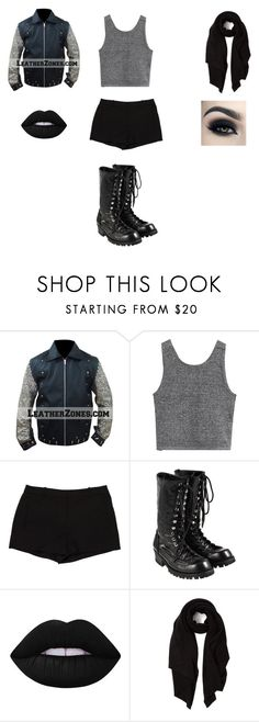 """""""Female Chris Jericho"""" by lily-poindexter ❤ liked on Polyvore featuring L'Agence, Comme des Garçons, Lime Crime, Too Faced Cosmetics and Cash Ca"""