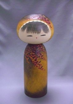 BEAUTIFUL JAPANESE SOSAKU KOKESHI DOLL 「彩秋」by WATANABE MASAO