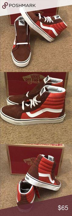 2 Tone SK8Hi Reissue Vans New in box. Cappuccino/burnt ochre Vans Shoes Sneakers