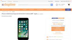 [Shoptime] iPhone 6 64GB Cinza Espacial iOS 8 4G Wi - Fi Câmera 8MP - Apple - de R$ 2.586,11 por R$ 2.149,00 (16% de desconto)