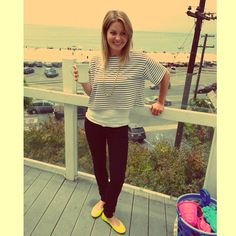 Candace Cameron bure outfit-love the yellow :)