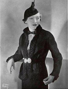"""""""Hussard"""" L'officiel de la Mode 1935 Ensemble. Philippe & Gaston"""