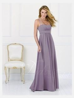 Chiffon A-line Strapless Floor-length Bridesmaid Dress - Didobridal