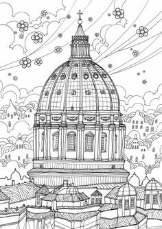 France Coloring Travel Book