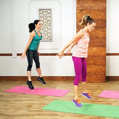 Quick, 10 minute fitness videos! So easy to follow along in your living room :)