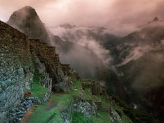 The ancient city of Machu Picchu