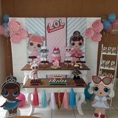 4th Birthday Parties, Birthday Bash, Happy Party, Doll Party, Lol Dolls, Party Activities, Diy And Crafts, Baby Shower, Leather Bracelets