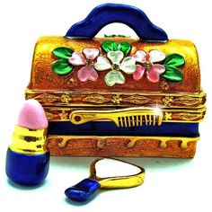 "Objet d'art Release No.193 ""Dolled Up"" Makeup Case with Mirror and Lipstick Handmade Jeweled Metal and Enamel Trinket Box Objet d' Art http://www.amazon.com/dp/B00CEHO30K/ref=cm_sw_r_pi_dp_.JOYub1R9H0C9"