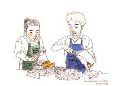 #drawing #illustration #breadillust