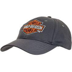 Harley Davidson - Shield Grey Cotton Adjustable Baseball Cap