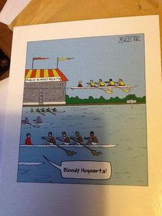 Harry Potter rowing #hogwarts #magic