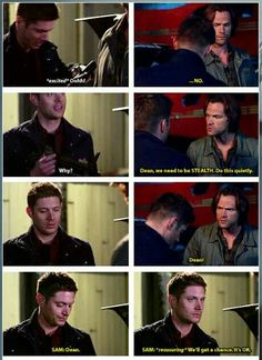 "12x05 ""The One You've Been Waiting For"" - This was totally more Jensen than Dean. Jensen has been wanting to use the grenade launcher since the very first episode of the series lol.<< HAHA"