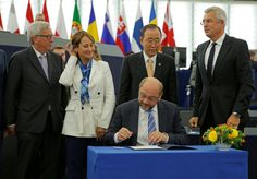 The Paris climate agreement will enter into force after E.U. greenlight