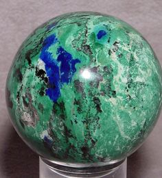 Azurite and Malachite Natural Crystal Sphere - Argentina