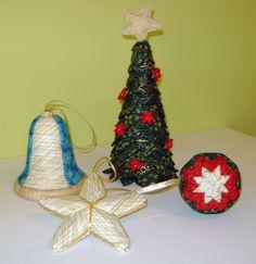 Patchwork Estudio: Adornos de Navidad con Patchwork sin aguja