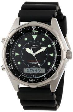 Casio Men%27s AMW320R-1EV Marine Ana-Digi Dive Watch