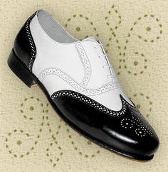 Aris Allen Black & White Spat Style Wingtip