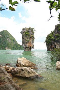 James Bond Island. Phangnag Bay, Phuket, Thailand Ao Phang Nga National Park, James Bond Island, Marina Resort, James Bond Movies, Thailand Travel, Phuket Thailand, Speed Boats, Day Trip, Places To Travel
