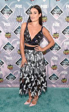 Lea Michele from Teen Choice Awards 2016 Red Carpet Arrivals  Celebrity stylist Brad Goreski has clearly worked his magic on the Scream Queens star.