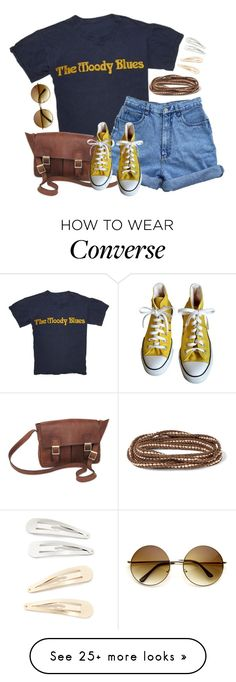 """""""Untitled #2888"""" by pageinabook on Polyvore featuring NOVICA, Converse, Chan Luu and Kitsch"""