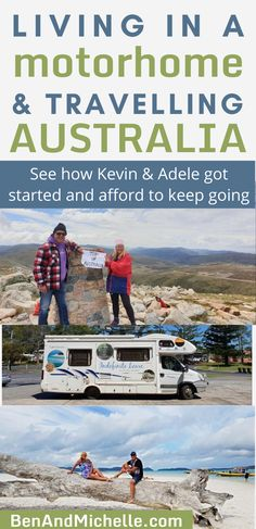 Kevin and Adele share with us how they got started living in their motorhome full-time, and the type of work they do so that they can continue travelling. Living in a motorhome Australia | Full-time travel Australia | Living on the road Australia | Motorhome life | Motorhome full-time Ways To Travel, Time Travel, Us Travel, Family Travel, Motorhome Living, Motorhome Travels, Australia Living, Australia Travel, Australian Photography