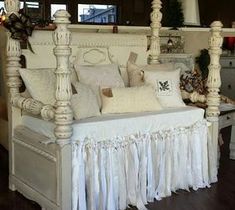 DIY Pallet ideas for Home: 1920's Waterfall Headboard and Footboard Repurpose...