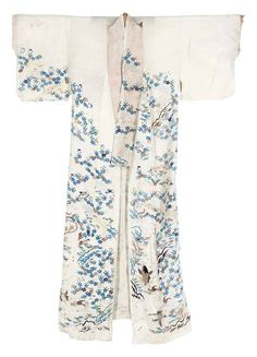 Witte zomer kimono, Japan, Edo, vroege 19de eeuw.