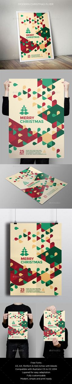 Modern Christmas Flyer — Vector EPS #party #christmas flyer • Available here → https://graphicriver.net/item/modern-christmas-flyer/9587884?ref=pxcr