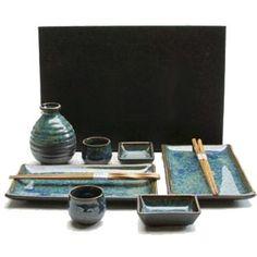 Sushi Plate Sake Set BL