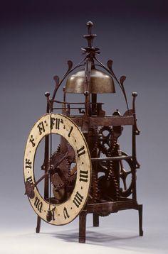 Engranajes Andreas Liechti ( Winterthur , Suiza , 1582-1650 ) . Suizo reloj de pared llamativo de 1603
