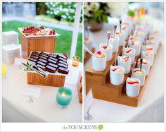 Summer finger desserts  mini strawberry shortcakes served in little cups | Lisa Dupar Catering, Seattle