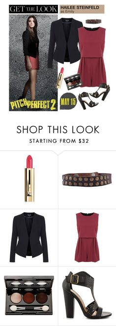 """Get the Look: Hailee Steinfeld in Pitch Perfect 2"" by polyvore-editorial ❤ liked on Polyvore featuring WALL, Guerlain, HTC, Topshop, Miss Selfridge, Vincent Longo, Michael Antonio, emily, haileesteinfeld and pitchperfect2"