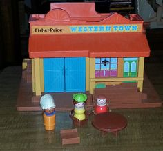 Vintage Fisher Price Western Town with by AlchemyCollectibles