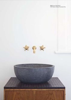Made A Mano Collection// Love these taps and the sink//