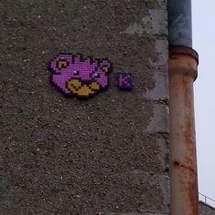 Bear perler street art