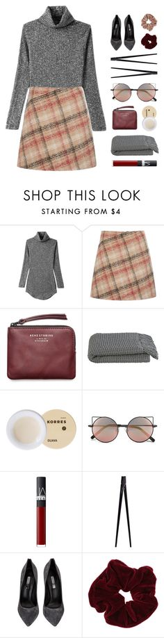 """""""New Plaid"""" by starit on Polyvore featuring Carven, Acne Studios, Crate and Barrel, Korres, Linda Farrow, NARS Cosmetics, CB2, Casadei, Miss Selfridge and Topshop"""
