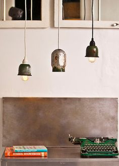 LOVE this metal backsplash! Luckily we don't have too large an area that would need one.