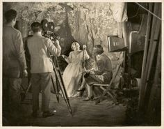 Paulette McDonagh (w,d) directing scene from The Cheaters (1930), AUC