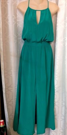 Vix Paulahermanny Dress Maxi Emerald Green Kate Silk Size Med NWT$288 | eBay