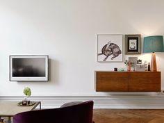 Fab kitchen and sitting room in a Swedish apartment (via Bloglovin.com )