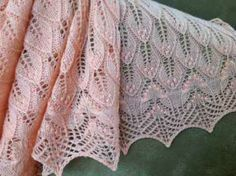 wavy leaves and butterflies - knitted pattern