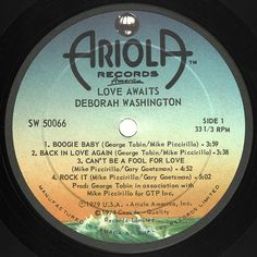 Deborah Washington - Love Awaits CANADA 1979 Lp near mint