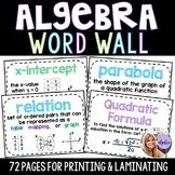 Algebra 1 & Middle School Math Word Wall Posters - Set of 72 Words Math Word Walls, Math Words, Algebra 1, Teaching Math, Teaching Resources, Math Anchor Charts, Math Stations, Middle School, Math Lessons