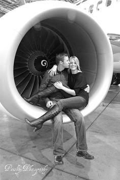 Aviation Engagement Photos  www.paisleyphotos.ca