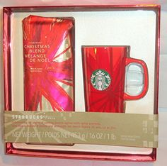Starbucks 16oz Christmas Blend 2014 with Red Starbucks Coffee Mug - http://teacoffeestore.com/starbucks-16oz-christmas-blend-2014-with-red-starbucks-coffee-mug/