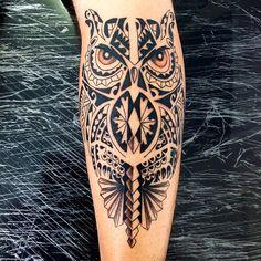 #owl #owlmaori #coruja #corujamaori #gugo #guarulhos #gugotattoo #tattoo #tatuaje #tattoosp #tatuagem