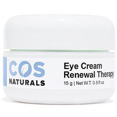 COS Naturals Eye Cream Renewal Therapy with Vitamin C E Hyaluronic Acid For Dark Circles Puffiness Fine Lines and Wrinkles, 15 Grams fl.oz -- Check this awesome image : Skin care Natural Eye Cream, Best Eye Cream, Natural Eyes, Organic Face Wash, Eye Cream Reviews, Face Skin Care, Anti Aging Serum, Hyaluronic Acid, Good Skin
