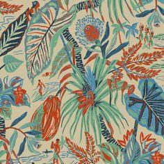 Print by Llew Mejia #hawaiian #textiles #pattern #illustration #shirts #plants #nature #jungle...