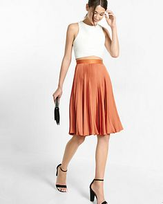 Pleated Midi Skirt, burnt orange skirt https://api.shopstyle.com/action/apiVisitRetailer?url=http://www.express.com/clothing/women/pleated-midi-skirt/pro/07737123/cat2011&pid=uid7609-25959603-56