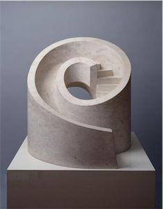 Isamu Noguchi - Slide Mantra 1966-1985 Botticino Marble